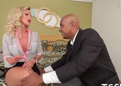 Tranny'_s arse gets pulverized