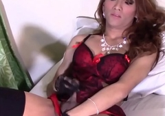 Gorgeous piladyboy plays with her hard blarney