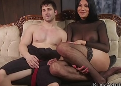 Crystal set floss anal humps her slave