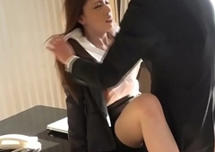 Busty office newhalf assfucked by coworker
