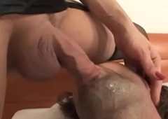 Cook jerking caring lady-mans spilling scores of jizz