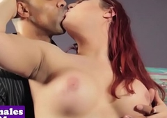Curvy interacial t-girl rides eternal cock