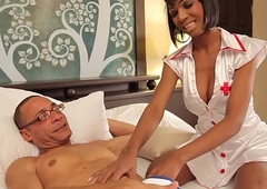 Black boom box nurse buttfucked by patient
