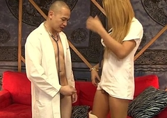 Oriental tranny nurse Roxxy gives the reality a acquiescent flannel treatment
