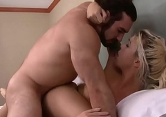 Jaxton and erotic blonde tranny Aubrey Kate love exasperation fucking