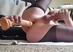 Amature male masturbating just about dildo in ass