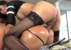 Asian shemale Venus Lux dominates Decarbonated Fox increased by excellent in her frowardness