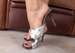1649194 feet i silver sandals mules high-heeled shoes pies sexys en tacones