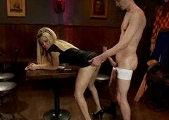 Pretty good ladyboy Paris gets anal shacking up in eradicate affect coffee bar